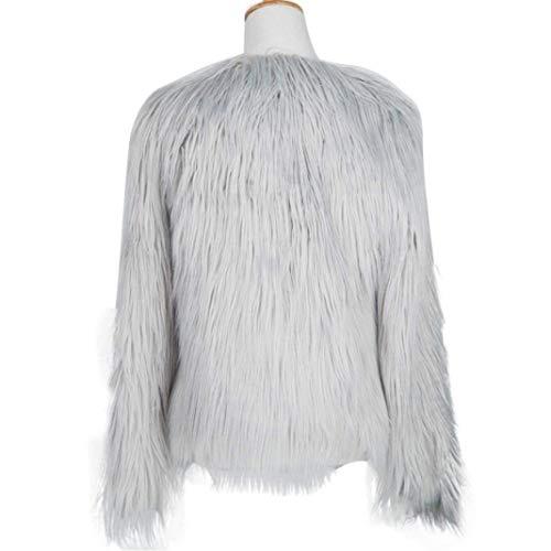 Parka couleur Fourrure D'hiver Taille Gris En Femmes Pour Synthétique Petite Dessus Zhrui de Vêtements ngqRwXT