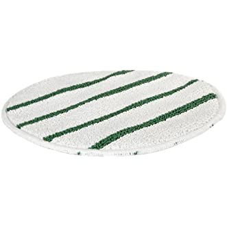 Rubbermaid Commercial Low-Profile Carpet Bonnet with Green Scrubber Strips, 21-Inch, FGP27100WH00