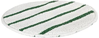 Rubbermaid FGP27100WH00 Low-Profile 21-Inch Bonnet with Green Scrub Strips, White, (Pack of 5)
