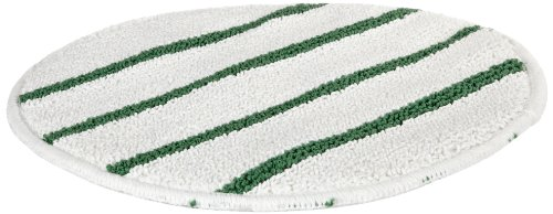 Rubbermaid Commercial Low-Profile Carpet Bonnet with Green Scrubber Strips, 21-Inch, FGP27100WH00 (Scrubber Green)