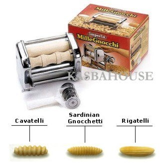 CucinaPro Imperia Pasta Maker Machine Attachment - 150-35 Mille Gnocchi - Stainless Steel by CucinaPro