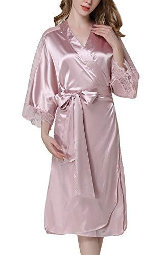 Kimono Camis Largo Satinado Aivtalk Mediano Elegantes Albornoz Albornoz Albornoces Mujeres xOqOET4z1w