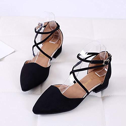 Summer amp; Ankle Shoes Pu Heel Black Black Beige Buckle Block QOIQNLSN Polyurethane Women'S Strap Heels Spring X0wYYq