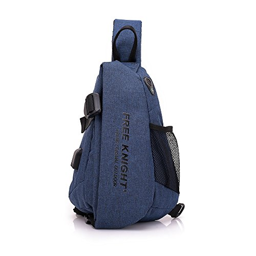 Men Chest Bag Shoulder Bag,Sports Chest Bag Shoulder Sling Backpack Sports Waist Bag with Earphone Hole & USB Charging Hole for Bicycle Sport Hiking Travel Camping Travel Outdoors by Hulorry