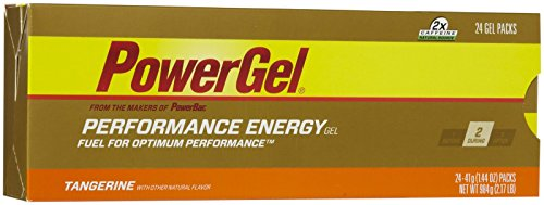 Power Bar Energy Gel, Tangerine, 24 pk