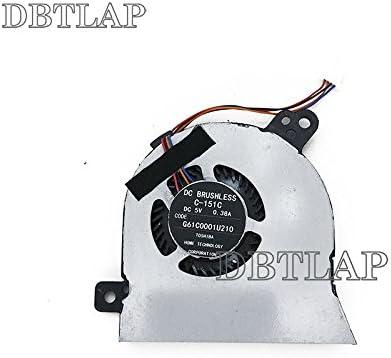 DBTLAP Ventilador de la CPU del Ordenador portátil para Toshiba Tecra Z40-A C-151C G61C0001U210 G61C0001U110 G61C0003D 110 FHA0-A00 Ventilador
