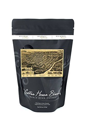 Macon, Georgia - (1887) - Panoramic Map (8oz Whole Bean Small Batch Artisan Coffee - Bold & Strong Medium Dark Roast w/ Artwork)