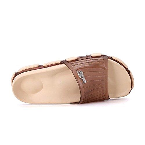 y Marrón Ancha Suave Deporte de Suela Zapatillas de Banda de con Exterior Suela de PVC Unisex v6Zzwq