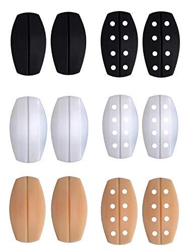 - EIMGO 6 Pairs Silicone Bra Strap Cushions Holder Non-Slip Comfort Shoulder Pads(2 Black,2 transparent,2 Beige)