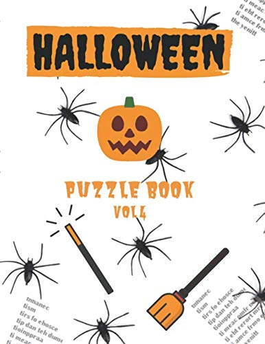 Halloween Word Scramble Puzzles (Halloween Puzzle Book - Vol 4: Massive collection of Horror Thriller movie names - word scramble jumble puzzles (Halloween)