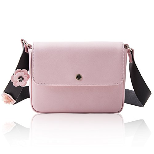 The Lovely Tote Co. Women's Flap Crossbody Bag, Pink (Cross Body Flap Bag)