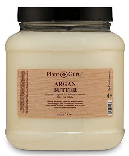 Argan Butter 3 lb. 100% Pure Raw Fresh Natural Cold Pressed. Skin Body and Hair Moisturizer, DIY Creams, Balms, Lotions, Soaps. Review