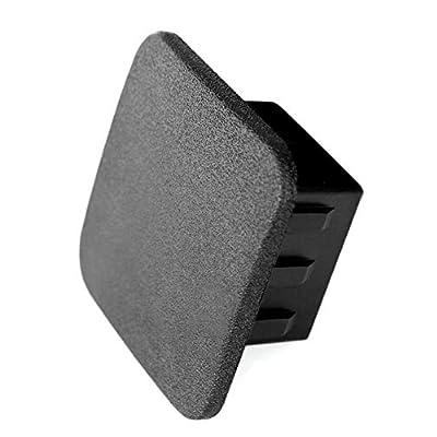 "LFPartS 2"" Rubber Trailer Hitch Cover Tube Plug Insert Fits 2"" Receivers (Plain Black): Automotive"