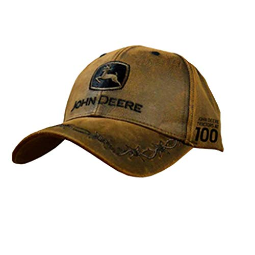 John Deere 100 Year Anniversary Oilskin Look Patch Casual Cap from John Deere