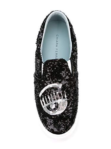 Cf1291nero in Chiara da Ferragni nera Donna skate Scarpe pelle qqxBHwS