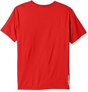HEAD Men's Olympus Striped Hypertek Gym Training & Workout T-Shirt - Short Sleeve Activewear Top