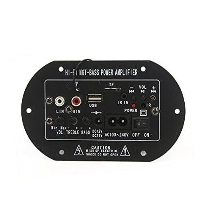 eDealMax DC 12V 24V receptor de Audio estéreo Junta módulo amplificador de potencia Para el coche