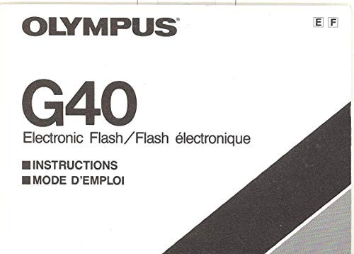 - Olympus G40 Electronic Flash Original Instruction Manual - Dual Language
