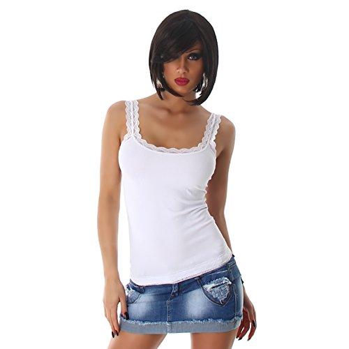 B[ ]X - Camiseta sin mangas - Tirantes - para mujer blanco