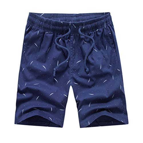 (Clearance! Men 's Beach Shorts,Male Casual Shorts Surfing Training Printing Loose Straight Fit Boardshorts Elastic Waist)