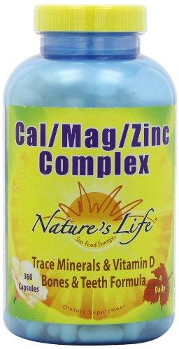 Vie Cal Nature / Mag / Zinc Capsules, 1000/500/15 Mg, 360 comte