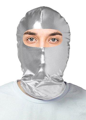VSVO Adults Silver Eyes Hole Metallic Masks Costumes (Adults, (Purge Mask Halloween Express)