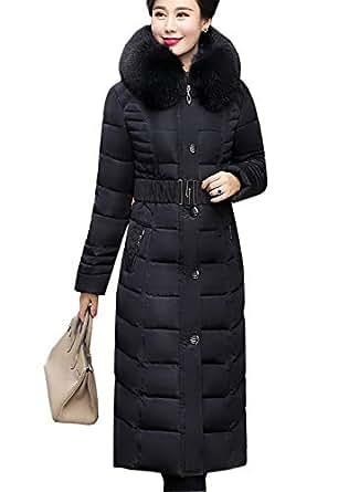Amazon.com: Flygo Women's Winter Warm Faux Fur Hooded Down