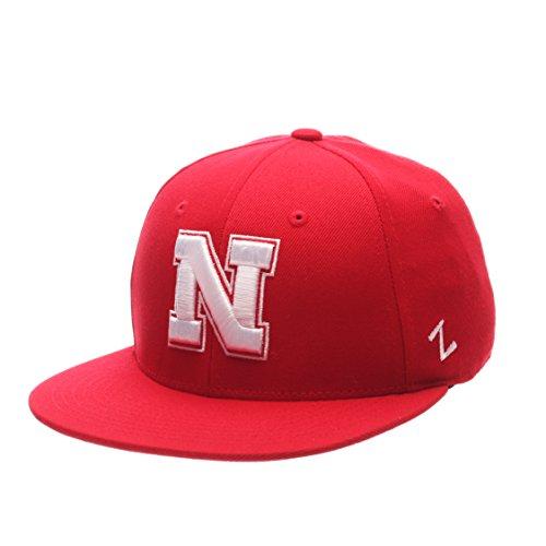 - ZHATS NCAA Nebraska Cornhuskers Men's M15 Fitted Hat, Red, Size 7 3/8
