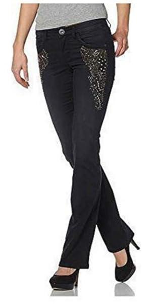 Laura Scott Pantalones Vaqueros con Adornos Mujer tamaño ...