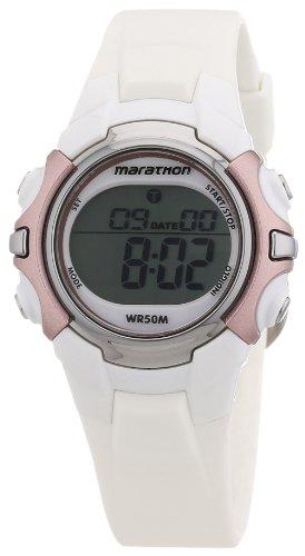 Timex T5K6474E – Reloj digital de cuarzo para mujer con correa de resina, color blanco