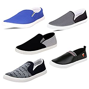 SCATCHITE Canvas Loafers, Moccasins, Sneakers and Casual Shoes – Pack of 5