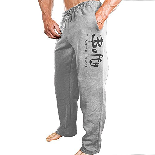 YLS Men's American Television Series Vampire Slayer ComfortableTour Particular Sweatpants Leisure Wear Size 3X Ash ()