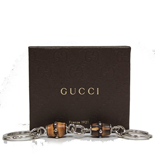 Gucci Bamboo Key Chain with Silver Bracket Ring 335977