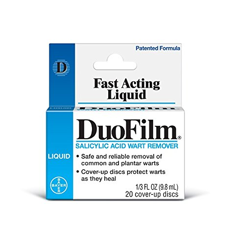 Dr. Scholl's DuoFilm Liquid Wart Remover, 0.33oz // Safe and Reliable Removal of Common and Plantar Warts