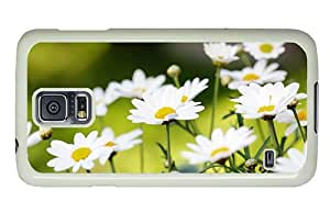 Hipster Samsung Galaxy S5 Case crazy covers Daisies Background PC White for Samsung S5 by lolosakes