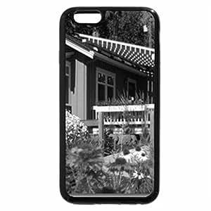 iPhone 6S Case, iPhone 6 Case (Black & White) - charming garden