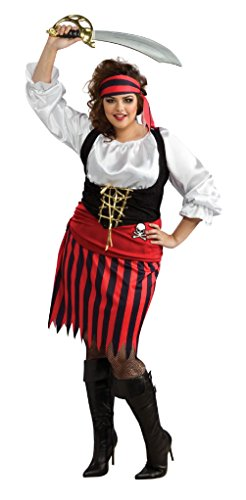 Pirate Girl Halloween Costume Rubies Sexy Cute Adult Womens Plus (Plus Size Sexy Captain Swashbuckler Costumes)
