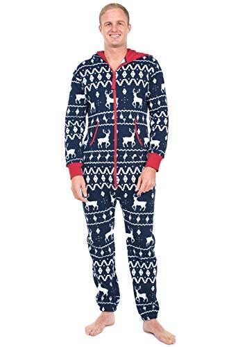 GYH Winter Men's Plus Size Home Pajamas One Piece Adult Onesie Mens Women Superman Jumpsuit Sleepwear,002,XL]()