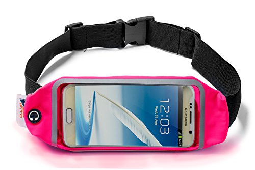 Pifito Running Belt by (TM) – Touchscreen Window Fits all Phones (Pink, 5.5 in. Touchscreen Window) For Sale