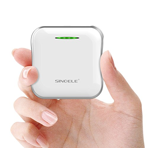 SINOELE Compact Power Bank 6600mAh Portable Charger Cell Phone External Battery Pack for iPhone ,Samsung, iPad, HTC , and more (White)…