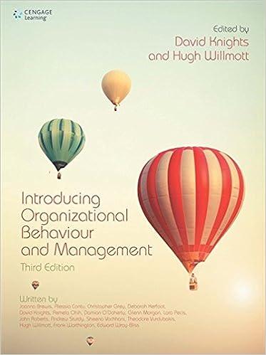 Book Introducing Organizational Behaviour and Management