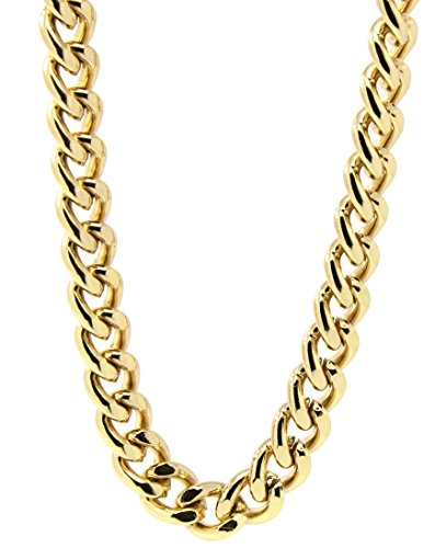 (Mens 18k Gold Plated 36