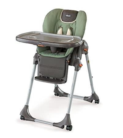 Chicco Polly Double Pad Fabric Highchair, Adventure (Discontinued By  Manufacturer)