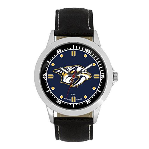 NHL Nashville Predators Mens Player Series Wrist Watch, Silver, One Size (Nashville Predators Best Player)