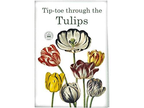 CreativeTops Royal Botanical Gardens Kew Tip Toe Tulips Cotton Tea Towel