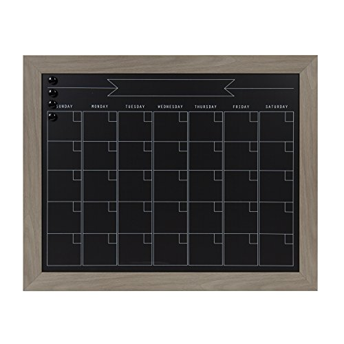 DesignOvation Beatrice Framed Magnetic Chalkboard, 23x29, Gray by DesignOvation