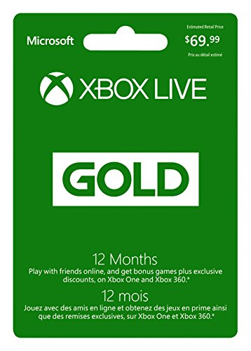 Microsoft Xbox Live Subscription Card For Xbox 360 Xbox O...