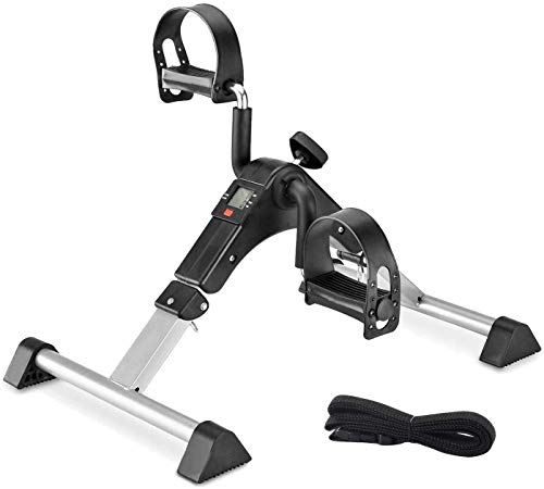 TODO Pedal Exerciser Foot Peddler Desk Bike Foldable With LCD Monitor for Leg and Arm Exercise