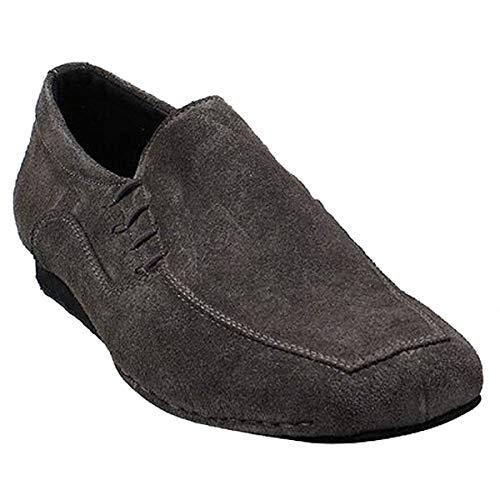 Men's Ballroom Latin Salsa Sneaker Dance Shoes Grey Suede SERO102BBXEB Comfortable - Very Fine 11 M US [Bundle of 5] (Boogie Woogie Best Dance Performance)