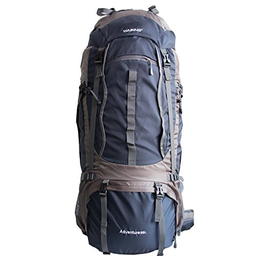 WASING 85l/80L Internal Frame Backpack Hiking Backpacking Packs for Outdoor Hiking Travel Climbing Camping Mountaineering